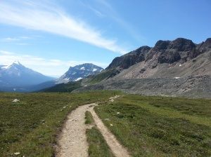 The trail leading up to Lake Helen
